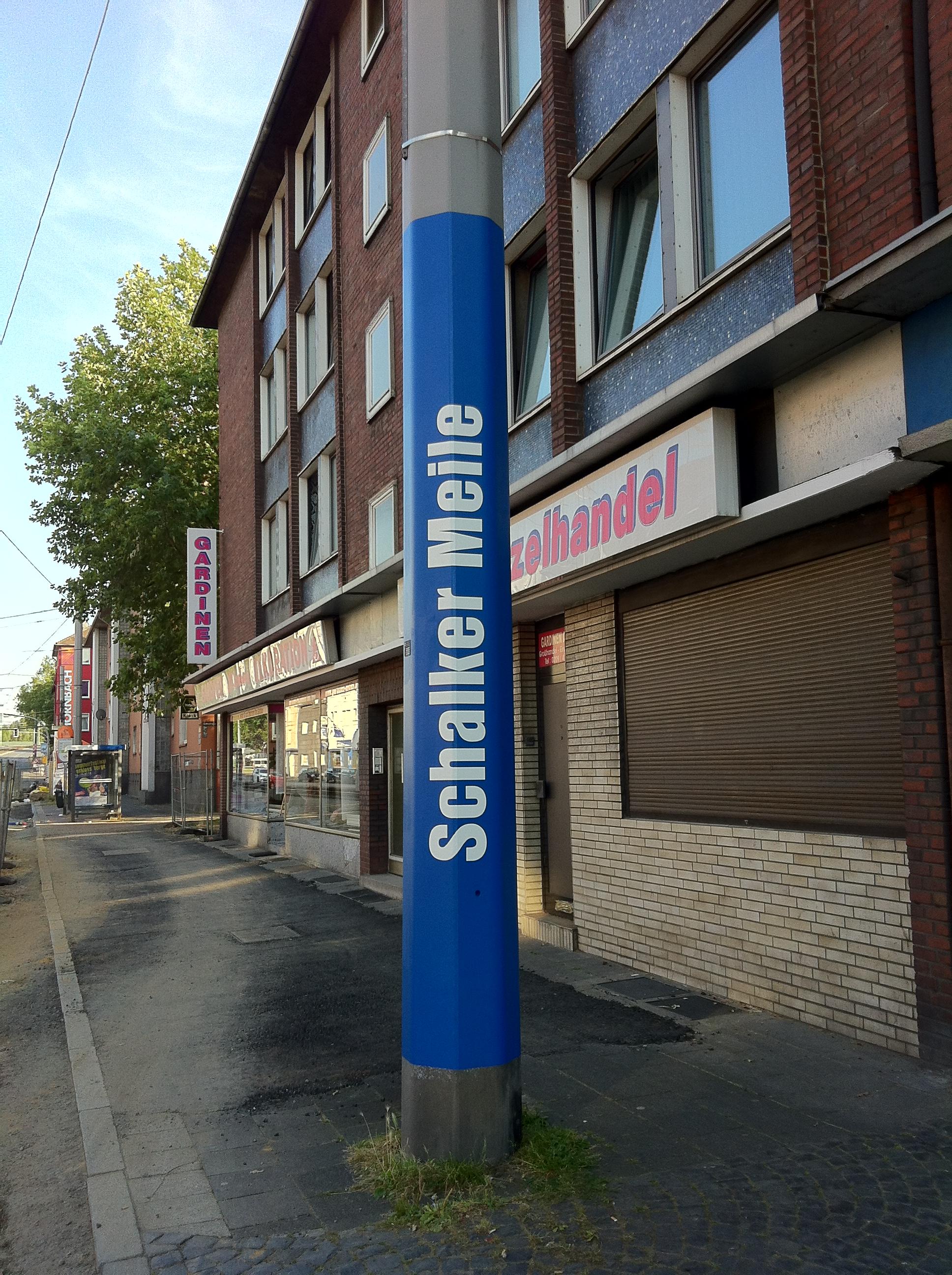 Schalker Meile Oberleitungen